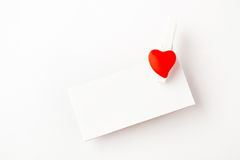 Valentine note Stock Photography