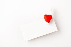 Valentine note Stock Photography