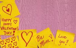 Valentine Note Background Royalty Free Stock Photo