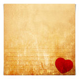 Valentine note paper Royalty Free Stock Photo