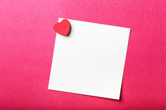 Valentine Note On Red Background Royalty Free Stock Photo