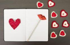 Valentine notebook Stock Image