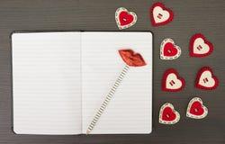 Valentine notebook Stock Photos