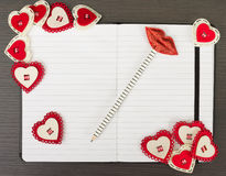 Valentine notebook Royalty Free Stock Photos