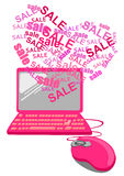 Valentine Online-het winkelen concept Royalty-vrije Stock Foto