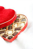 Valentine: Open Candy Box on Fur Royalty Free Stock Photography