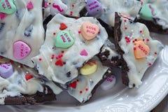 Valentine Oreo Bark Fotografía de archivo