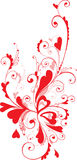Valentine ornament. With heart-shapes royalty free illustration