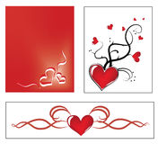 Valentine ornaments Royalty Free Stock Images