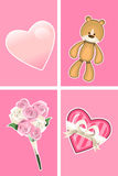 Valentine Ornaments Royalty Free Stock Photography