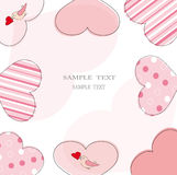 Valentine ou carte de mariage Image stock
