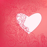 Valentine outline Royalty Free Stock Images