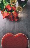 Valentine: Overhead of Various Valentine's Gifts Royalty Free Stock Images