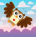 Valentine owl topic image 1 Stock Images