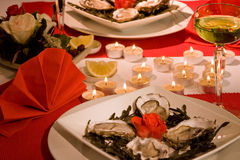 Valentine oysters Royalty Free Stock Photo