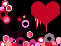 Valentine painted heart Royalty Free Stock Photos