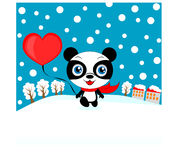 Valentine panda Stock Photography