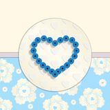 Valentine. Paper Blue Heart. Greetings Card Stock Image