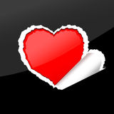 Valentine paper heart. Royalty Free Stock Photo