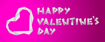 Valentine paper heart. S on the violet background Stock Image