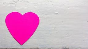 Valentine - paper heart magenta colors Stock Photos