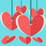 VALENTINE PAPER Royalty Free Stock Images