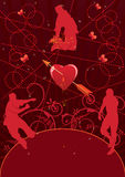 Valentine party background Royalty Free Stock Photos