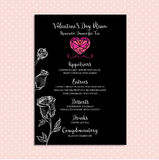Valentine party invitation restaurant. Food flyer. Royalty Free Stock Images