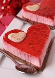 Valentine pastry Royalty Free Stock Image