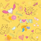 Valentine pattern Royalty Free Stock Photos