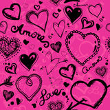 Valentine pattern Royalty Free Stock Images