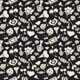 Valentine Pattern Dark doux illustration de vecteur