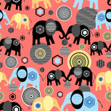Valentine pattern of elephants Royalty Free Stock Image
