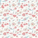 Valentine Pattern en colores pastel dulce Imágenes de archivo libres de regalías