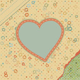 Valentine pattern with hearts. EPS 8 Stock Images