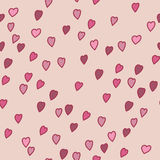 Valentine pattern with hearts. Seamless texture with heart sign Royalty Free Stock Photo