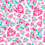 Valentine pattern with love hearts , . Royalty Free Stock Image