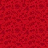 Valentine Pattern rojo dulce Foto de archivo libre de regalías