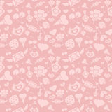 Valentine Pattern rosado dulce Fotos de archivo