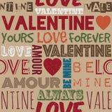 Valentine pattern Royalty Free Stock Photos