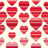 Valentine pattern. Seamless texture with hearts. Stock Photos