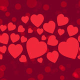 Valentine pattern. Seamless texture with hearts. Royalty Free Stock Images