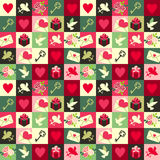 Valentine pattern Stock Photography