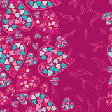 Valentine Pattern With Love Hearts , . Stock Photo