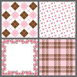 Valentine Patterns Stock Photography