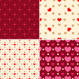 Valentine patterns Royalty Free Stock Photo
