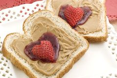 Valentine Peanut Butter and Jelly Royalty Free Stock Images