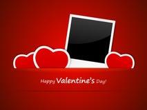 Valentine photo frame Stock Photo