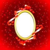 Valentine photo frame Royalty Free Stock Image