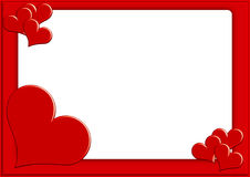Valentine photoframe2. Valentine photoframe with small hearts vector illustration